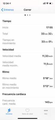 Apple Watch - Sincronización con HealthFit