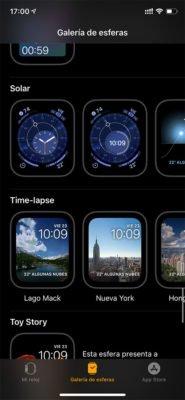 Apple Watch Series 5 - Galería esferas
