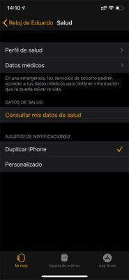 Apple Watch - Salud