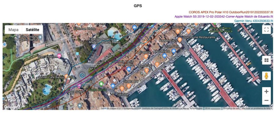 Comparativa GPS Garmin Venu - Apple Watch - COROS APEX Pro