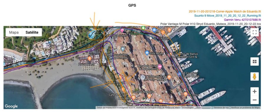Comparativa GPS Garmin Venu - Apple Watch