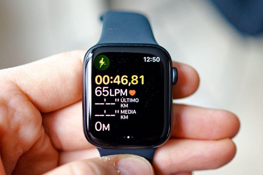 Apple Watch Series 5 - Pantalla entrenamiento bajo consumo