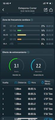 COROS APEX Pro - Actividad sincronizada