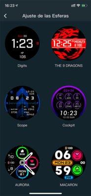 COROS APEX Pro - Esferas de pantalla