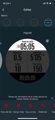 Configuración de pantallas COROS APEX Pro