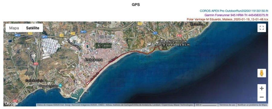 COROS APEX Pro - Rendimiento GPS