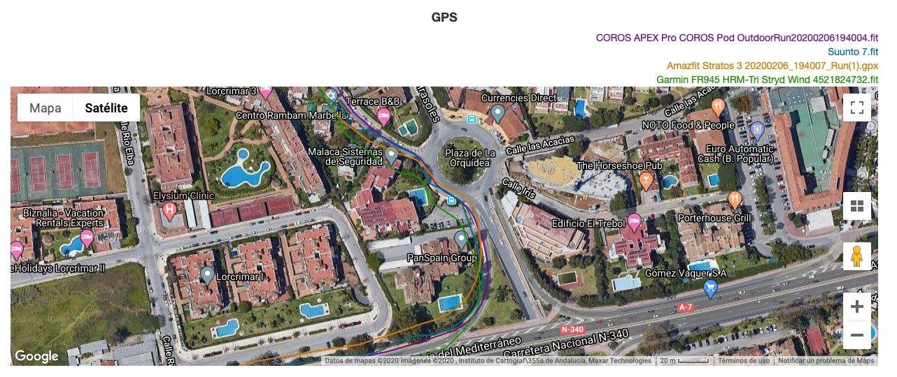 Comparativa GPS Suunto 7 Amazfit Stratos 3