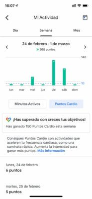 Google Fit - Actividad