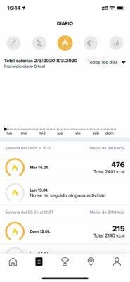 Actividad Suunto App