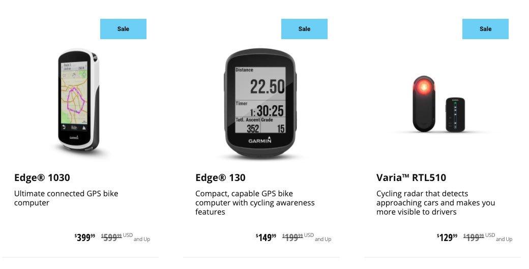Garmin Edge Sales