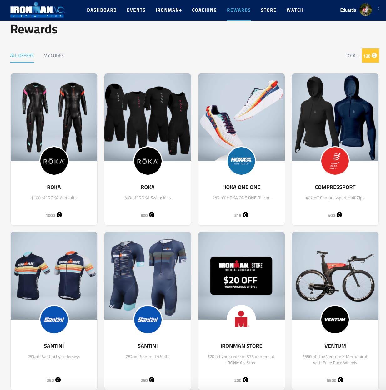 Ironman Virtual Club - Rewards