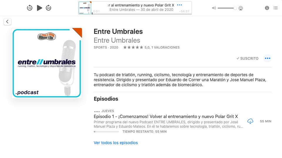 Podcast Entre Umbrales en Apple