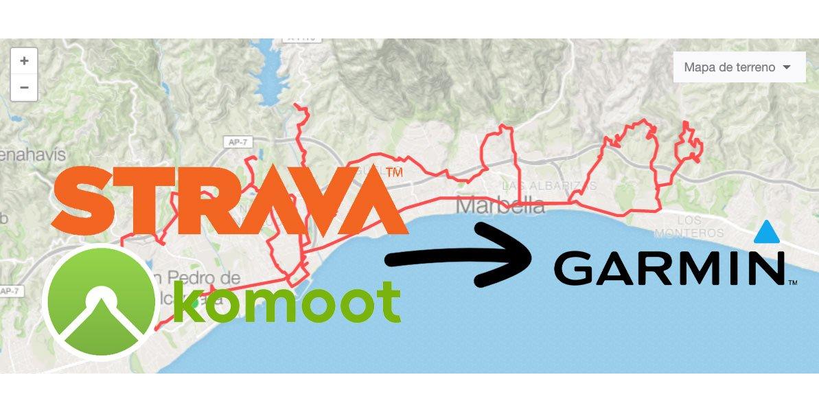 Sincronizar Strava o Komoot con Garmin