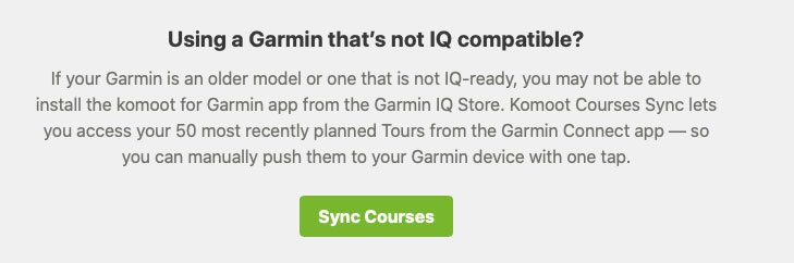Sincronizar Komoot y Garmin