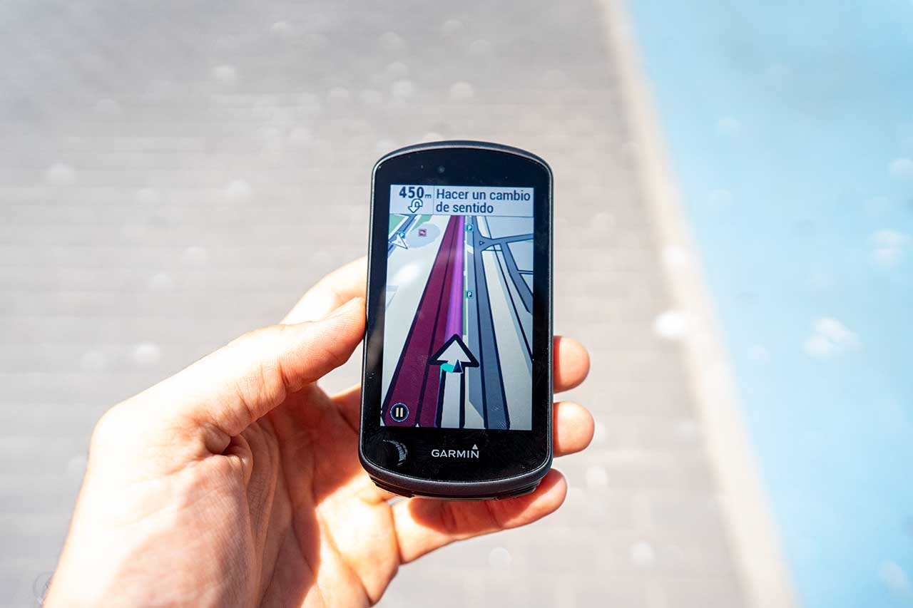 Garmin Edge 1030 Plus - Pausa navegación