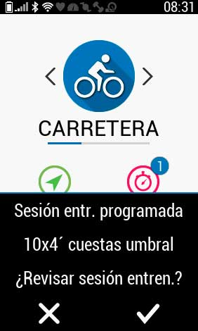 Garmin Edge 1030 Plus - Sesión programada en calendario