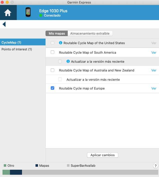 Garmin Edge 1030 Plus - Mapas de todo el mundo