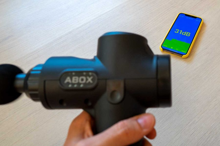 Pistola de masaje muscular Abox - Ruido
