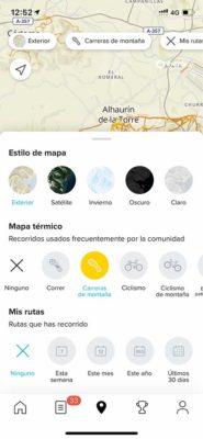 SuuntoApp - Configurar mapa