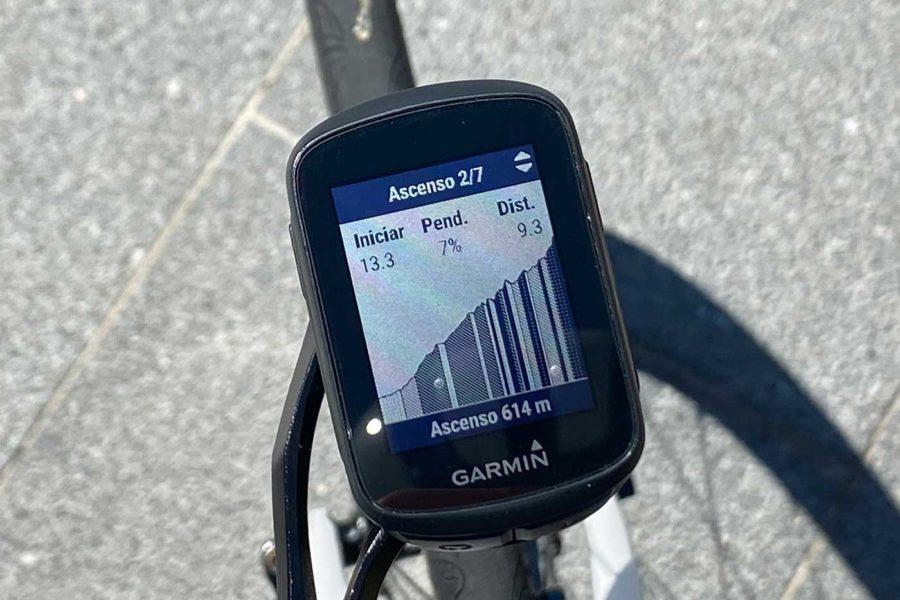 Garmin Edge 130 Plus - Detalle subida ClimbPro
