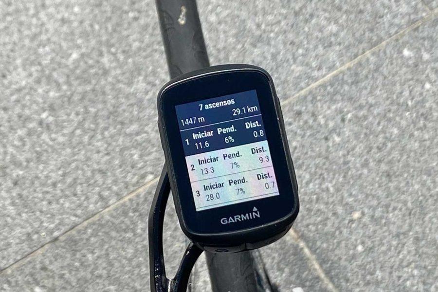 Garmin Edge 130 Plus - Listado ClimbPro