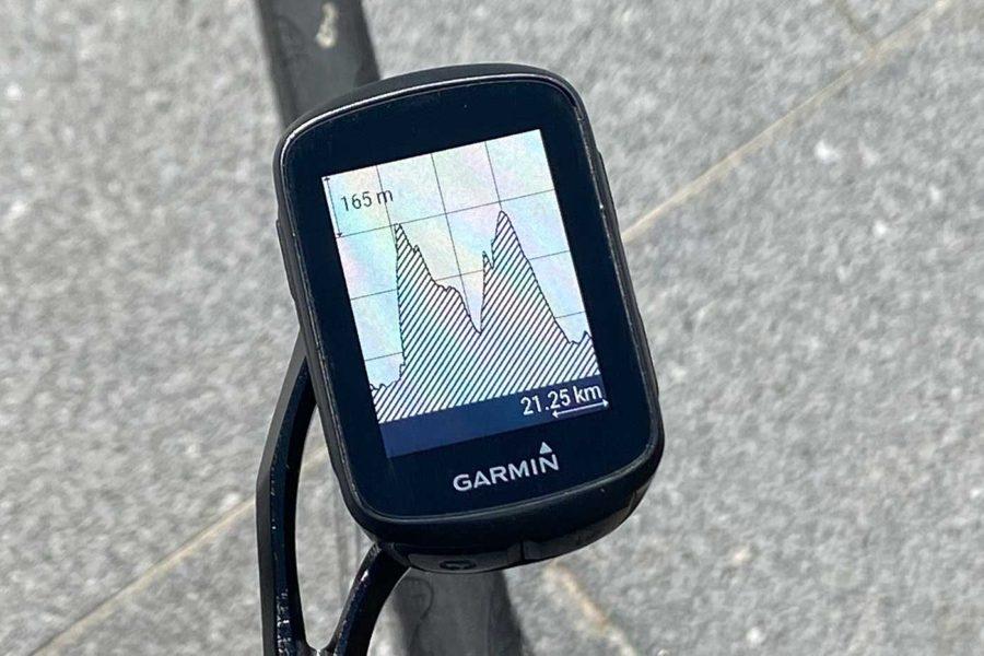 Garmin Edge 130 Plus - Perfil de altimetría