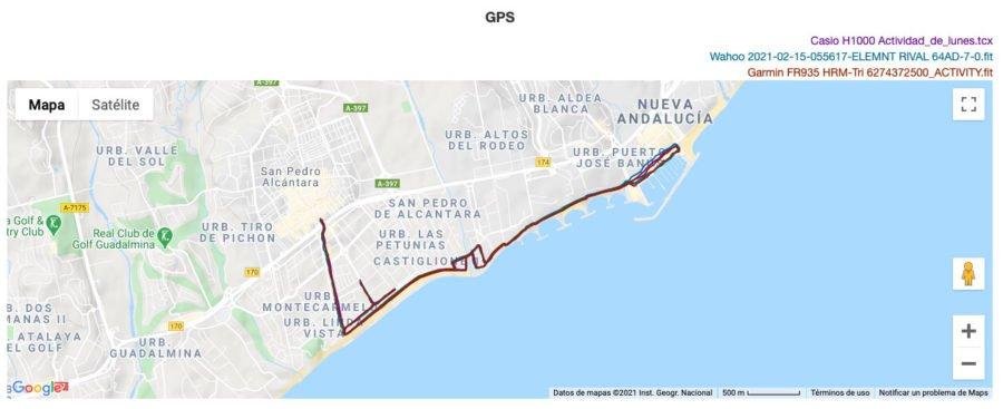 Casio G-Shock H1000 - Comparativa GPS