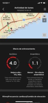 Casio H1000 - Efecto de entrenamiento