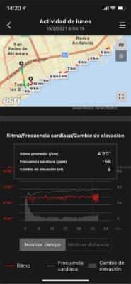 Casio H1000 - Resumen de entrenamiento