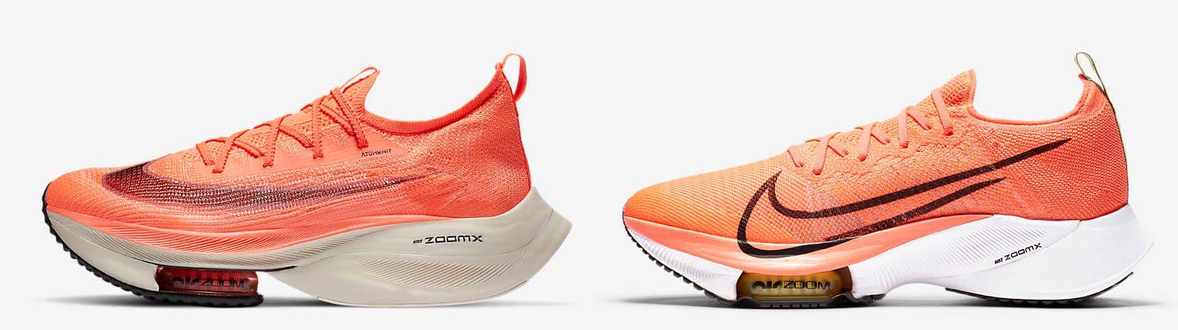 Nike Tempo NEXT% y Alphafly