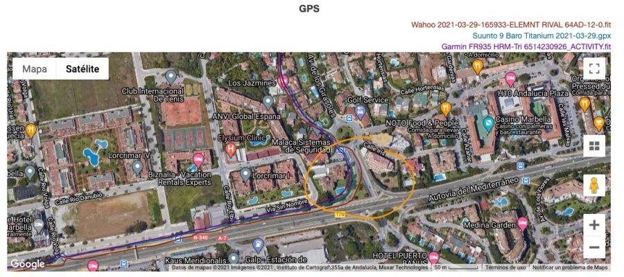 Suunto 9 Baro Titanium - Comparativa GPS