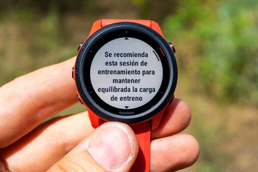 Garmin FR745 - Recomendación de entrenamiento