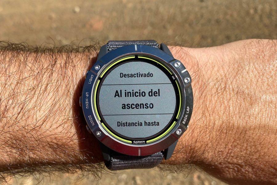 Garmin Enduro - Alertas ClimbPro