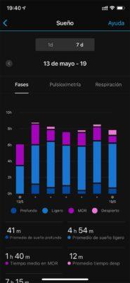 Garmin Venu 2 - Registro de sueño