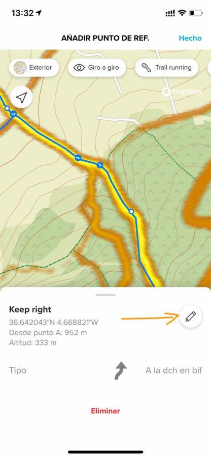 Navegación giro a giro con Suunto App