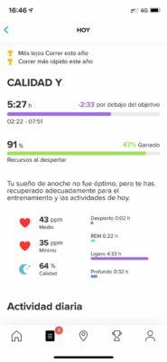 Suunto 7 - Actividad diaria en app
