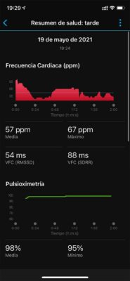 Garmin Venu 2 - Health Snapshot