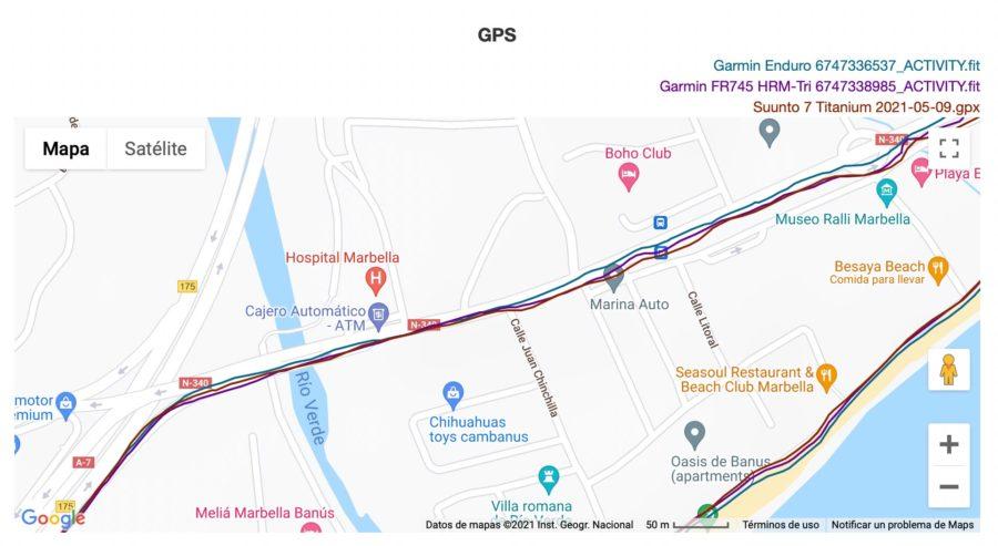 Suunto 7 - Garmin Enduro - Análisis GPS