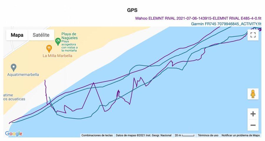 Wahoo ELEMNT RIVAL - Comparativa GPS