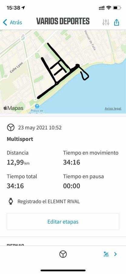Wahoo ELEMNT RIVAL - Triatlón detección automática