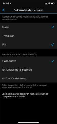 Garmin Forerunner 945 LTE - Compartir evento en directo