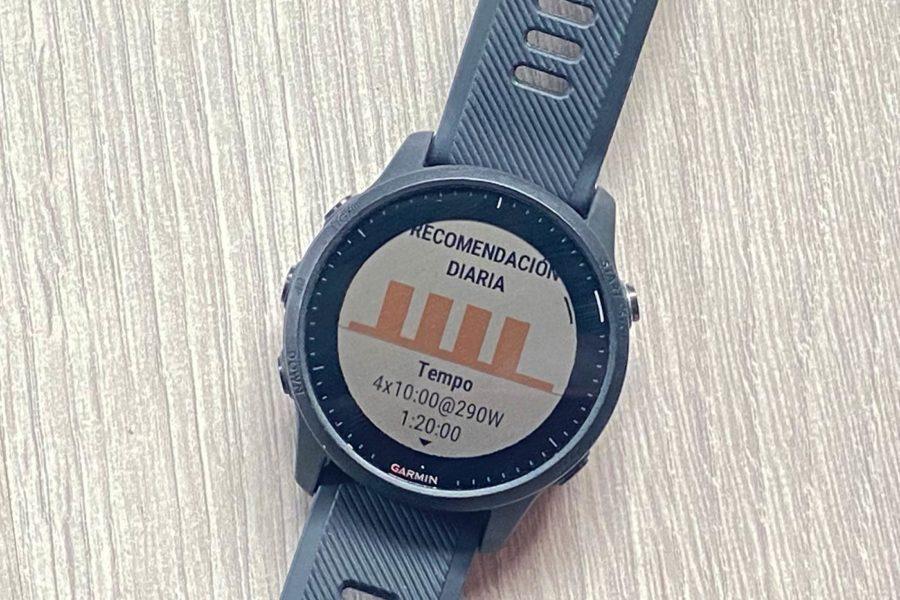 Garmin FR945 LTE - Sugerencia de entrenamiento