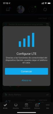 Garmin Forerunner 945 LTE - Configuración LTE