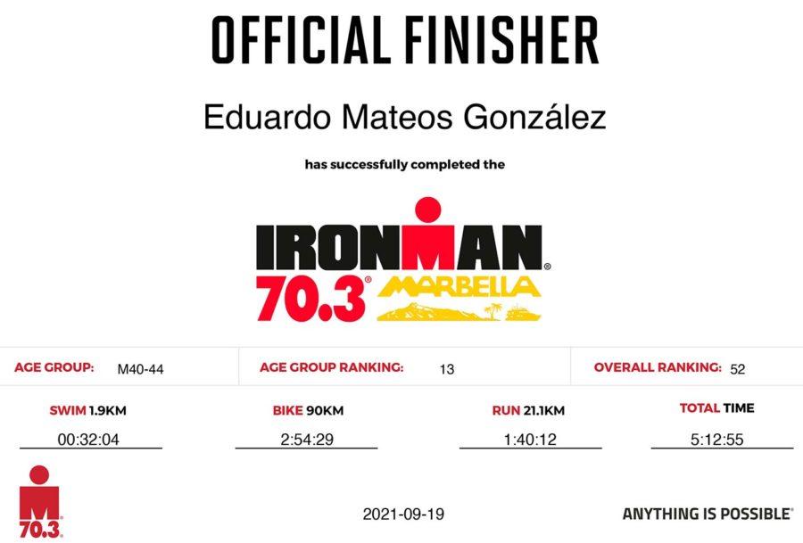 Ironman Marbella - Resultados